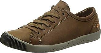 Softinos Isis washed leather - zapatos con cordones de cuero mujer, color marrón, talla 39