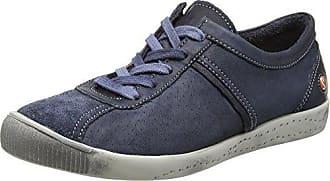 Softinos ICA388SOF Smooth/Suede, Zapatillas para Mujer, Blau (Navy/Dk.Grey), 36 EU