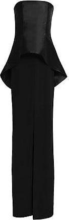 Solace London Woman Etta Silk-satin Trimmed Silk Dress Black Size 6 Solace London