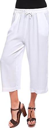 Womens Shorts a Righe Bianco E Blu Trousers Solo Capri