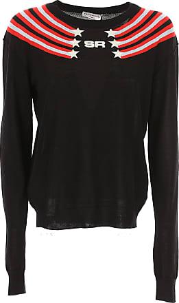 Sonia Rykiel Woman Ruffle-trimmed Two-tone Jacquard-knit Sweater Black Size S Sonia Rykiel