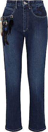 Sonia Rykiel Woman Cropped Belted Mid-rise Wide-leg Jeans Light Denim Size 44 Sonia Rykiel