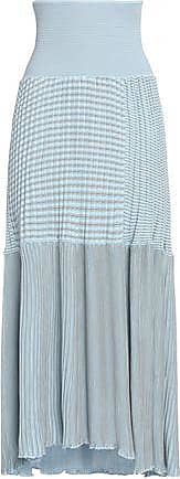 Sonia Rykiel Woman Paneled Ribbed Cotton-blend Maxi Skirt Sky Blue Size XS Sonia Rykiel