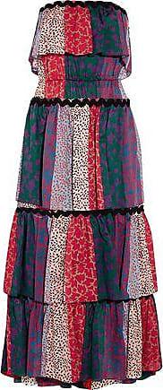 Sonia Rykiel Woman Ruffled Striped Silk-chiffon Gown Red Size 42 Sonia Rykiel