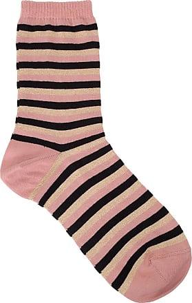 Sale - Dory Striped Lurex Socks - Beck Sönder Gaard Becksöndergaard