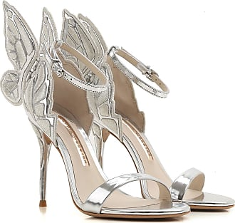 Sandals for Women On Sale, Silver, Patent Leather, 2017, 3.5 4.5 5.5 7.5 Sophia Webster
