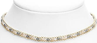 South Moon Under Grey Multi Beaded & Chain Choker Necklace Grey