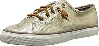 Sperry Seacoast Gold Mädchen Bootsschuhe-Gold-30