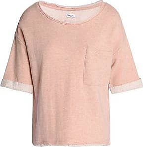 Splendid Woman Mélange Cotton-terry T-shirt Peach Size L Splendid