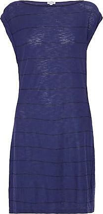 Splendid Woman Striped Slub Cotton And Modal-blend Jersey Mini Dress Navy Size XL Splendid