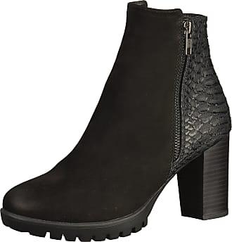 Spm »Leder/Synthetik« High-Heel-Stiefelette, schwarz, EURO-Größen, schwarz