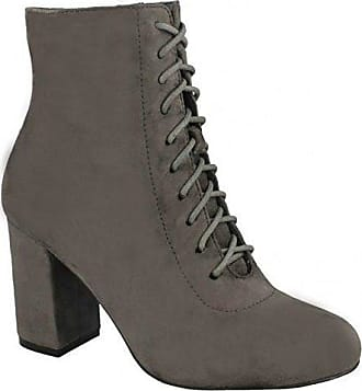 Spot on Damen Ankle Boots mit Schnürung (39 EU) (Schwarz)