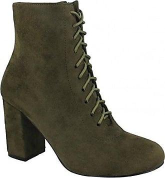 Spot on Damen Ankle Boots mit Schnürung (40 EU) (Schwarz)