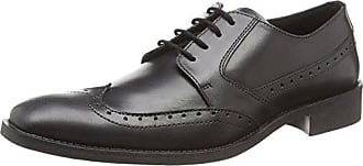 A2128 - Scarpe Basse Stringate Uomo, Nero (Black), 44 Spot On