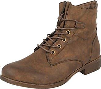 Spot on Damen Ankle Boots mit Schnürung (40 EU) (Braun)
