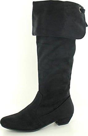 Spot on Damen Stiefel mit Schaftabschluss Zum Krempeln (40 EU) (Beige)