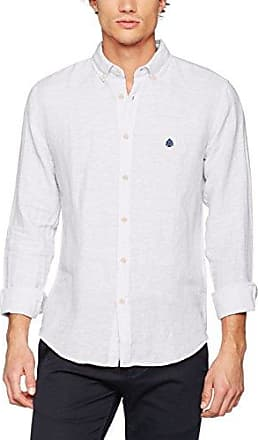 Solid Linen, Chemise Casual Homme, Blanc (White 99), SSpringfield