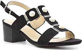 Sprox Breites Passendes Einfaches Schließendes Sandale im Schwarzen für Männer durch Größe 44 - Schwarz
