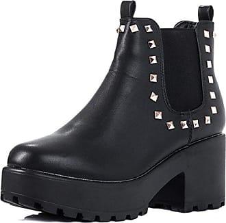 Plateau Blockabsatz Stiefeletten Schuhe Synthetik Wildleder GR 41