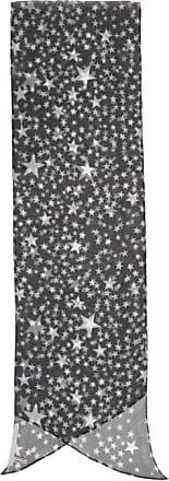 Black and White Silk Star Scarf Stella McCartney