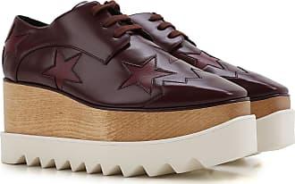Cuñas para Mujer, Zapatos de Cuña Baratos en Rebajas, Oro Palido, Piel Ecologica, 2017, 36 Stella McCartney