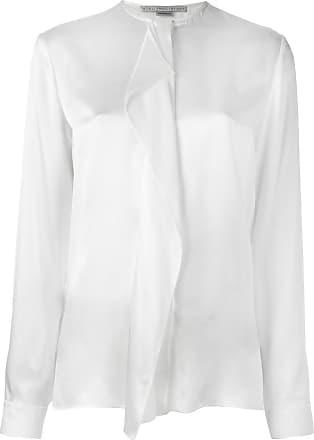 Stella Mccartney Woman Goldie Draped Silk-charmeuse Top Black Size 34 Stella McCartney