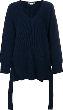 Oversized Stretch Knit-trimmed Wool Sweater - Midnight blue Stella McCartney