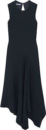 Stella Mccartney Woman Cutout Asymmetric Stretch-cady Dress Midnight Blue Size 36 Stella McCartney