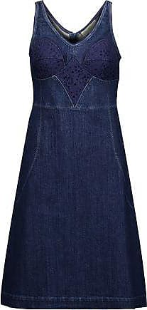 Stella Mccartney Woman Dori Embroidered Denim Dress Dark Denim Size 36 Stella McCartney