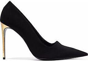 Stella Mccartney Woman Studded Appliquéd Faux Leather Pumps Black Size 36.5 Stella McCartney