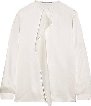Stella Mccartney Woman Eva Embroidered Silk Blouse Ecru Size 42 Stella McCartney