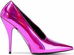 Stella Mccartney Woman Iridescent Faux Leather Pumps Fuchsia Size 36.5 Stella McCartney
