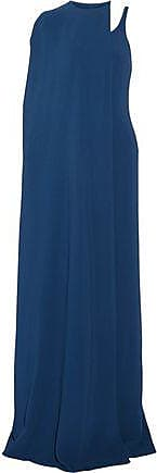 Stella Mccartney Woman One-shoulder Layered Crepe Gown Cobalt Blue Size 36 Stella McCartney