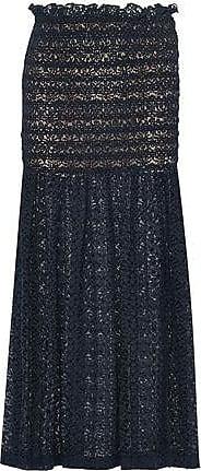 Stella Mccartney Woman One-shoulder Belted Cotton-poplin Navy Size 36 Stella McCartney