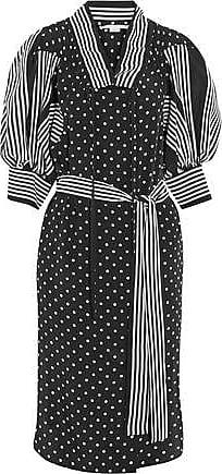 Stella Mccartney Woman Valeria Ruffled Printed Silk Dress Black Size 40 Stella McCartney