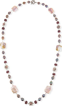 Stephen Dweck Pearl & Labradorite Beaded Station Necklace, 44