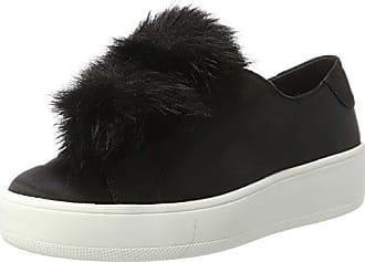 Breeze, Sneakers para Mujer, Negro (Black Satin), 38 EU Steve Madden