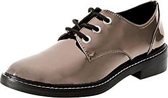 Little, Zapatos de Cordones Brogue para Mujer, Negro (Black 001), 37.5 EU Steve Madden