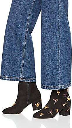 Livia Ankle Boot, Botas para Mujer, Negro (Black 01001), 36 EU Steve Madden