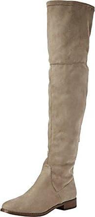 Steve Madden Odessa Overknee Boot, Botas para Mujer, Beige (Taupe), 37 EU