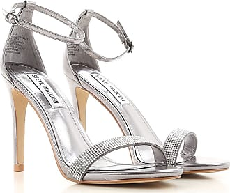 Sandals for Women On Sale, Silver, Leather, 2017, 6 Steve Madden