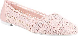 Stiefelparadies Damen Ballerinas Slippers Schleifen Pailetten Bommel Ballerina Slipper Slip-Ons Elegante Flats Party Schuhe 130974 Rosa Bommel 37 Flandell