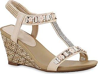 Spielraum Shop Damen Sandaletten Keilsandaletten Bast Wedges