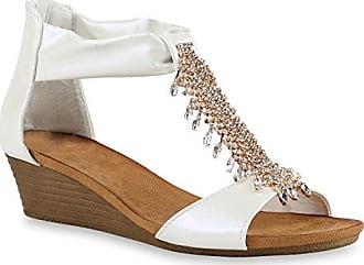 Damen Sandaletten Brautschuhe Hochzeitsschuhe Riemchen Sandalen