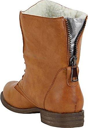 Damen Schuhe Stiefeletten Leicht Gefütterte Hellbraun 37