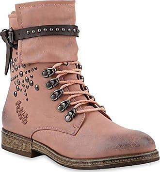 Damen Schuhe Stiefeletten Warm Gefütterte Schnürstiefeletten Stiefel 147396 Dunkelblau Brooklyn 40 Flandell
