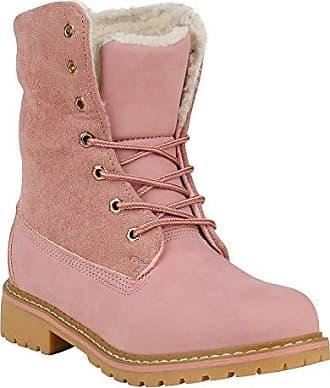 Gefütterte Damen Stiefeletten Stiefel Worker Boots Schuhe 151878 Rosa Brooklyn 38 Flandell