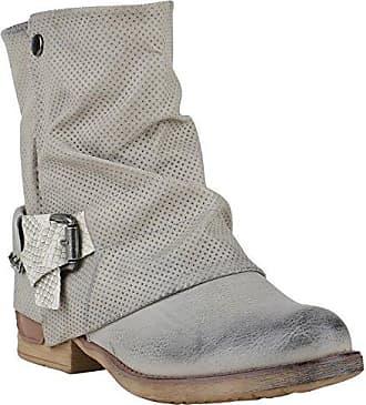 Stiefelparadies Damen Biker Boots Stiefeletten Osen Stiefel Schuhe