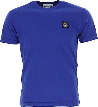 Camiseta de Hombre, Azul Real, Algodon, 2017, M XXL Stone Island