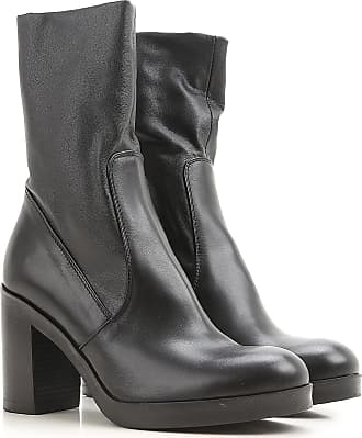 Boots for Women, Booties On Sale, Gun Metal, Leather, 2017, 4 4.5 6 7.5 Strategia